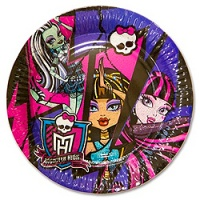 Тарелка-Monster-High-23см-8шт