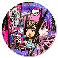 Тарелка-Monster-High-17см-8шт