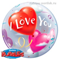 BUBBLE ILY Шары Сердца